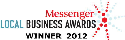 "Winner of ""Skilled Trades & Services, Southern Region"" at the 2012 Messenger Local Business Awards"