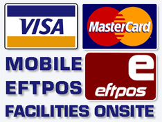 Mobile EFTPOS facilities available